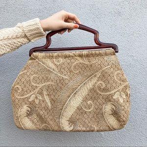 Adorable vintage couch print handbag